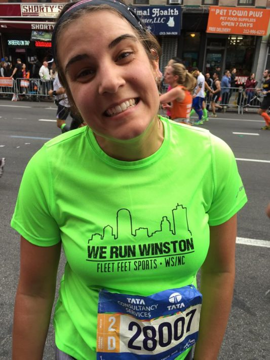 The beautiful smile 18miles into the NYC marathon.